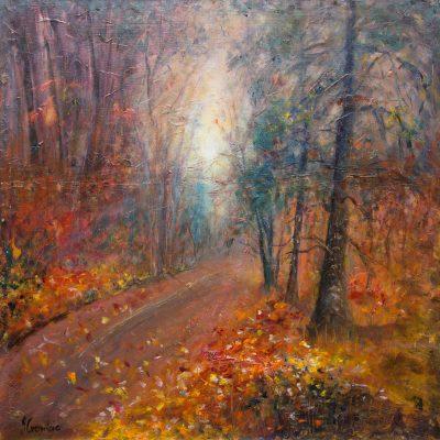 Watercolour - Autumn Mist 49X49
